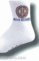Custom Knit-in Quarter Socks W/ Puff Print Sole (7-11 Medium)