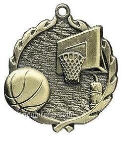 "Medal, ""Basketball"" - 1-3/4"" Wreath Edging"