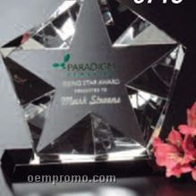 "Star Gallery Crystal Penta Star Award (6 1/2"")"