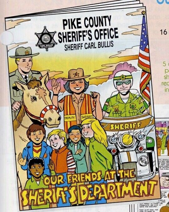 """8""""X10-5/8"""" 16 Page Coloring & Fun Book (Our Friends At The Sheriffs)"""