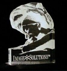 Acrylic Paperweight Up To 20 Square Inches / Custom Shape 7