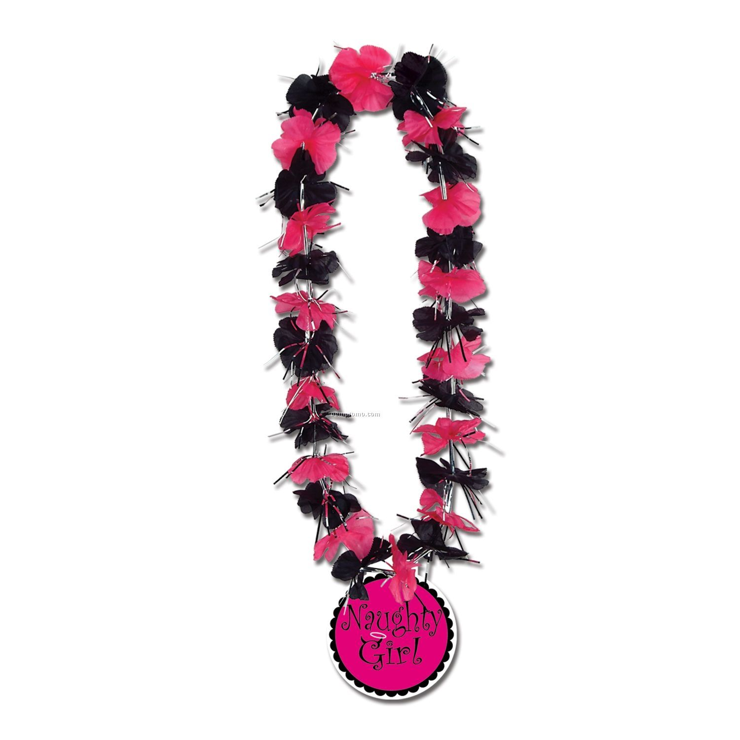 Party Leis W/ Naughty Girl Medallion