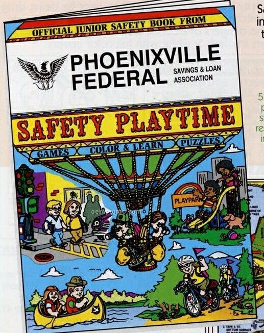 """8""""X10-5/8"""" 16 Page Coloring & Fun Book (Safety Playtime)"""