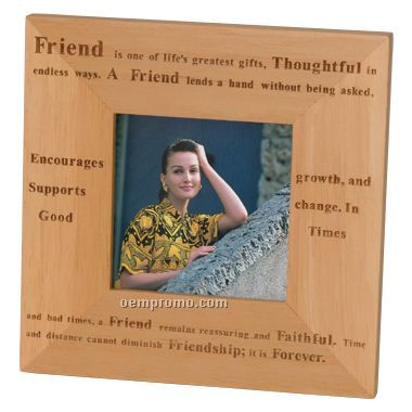 Photo frame for 3 5 x 3 5 picture laser engrave 6 25 w x 6 25 h