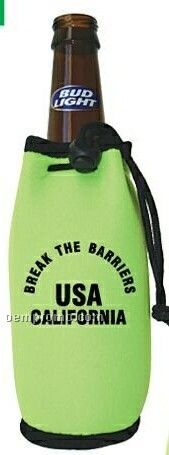 Cooli Beverage Insulator W/ Drawstring & Clip