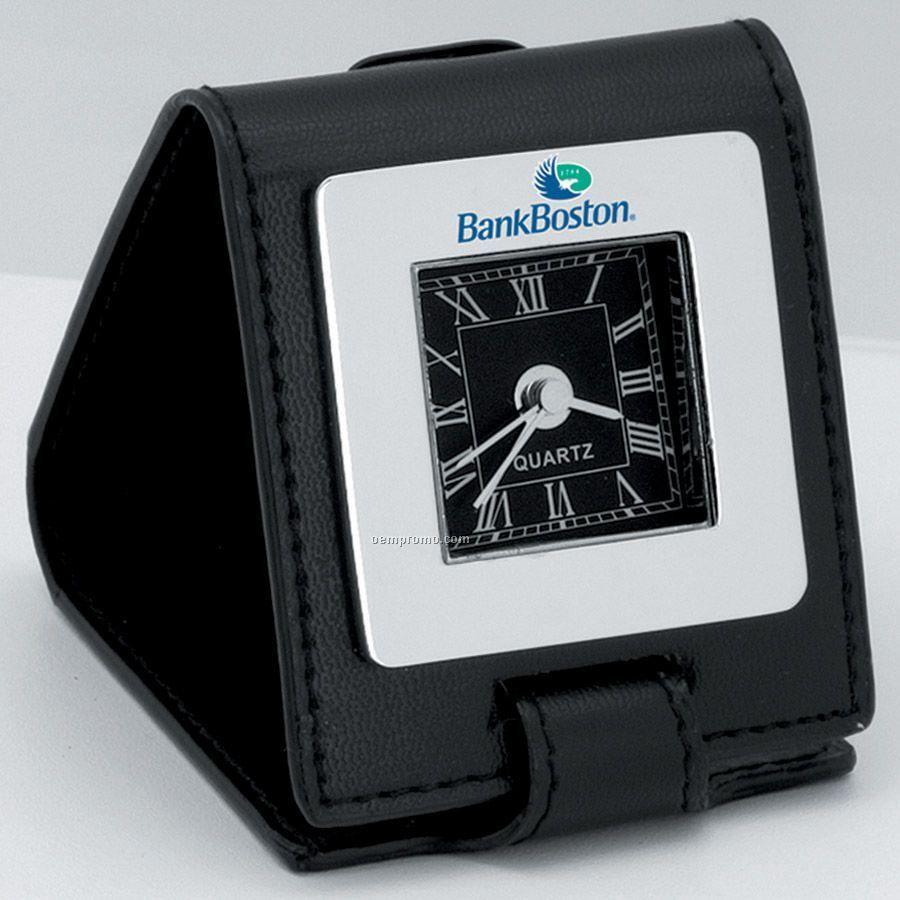 Foldable Analog Travel Alarm Clock