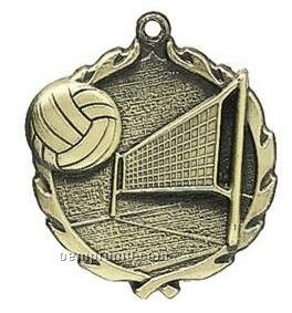 "Medal, ""Volleyball"" - 1-3/4"" Wreath Edging"