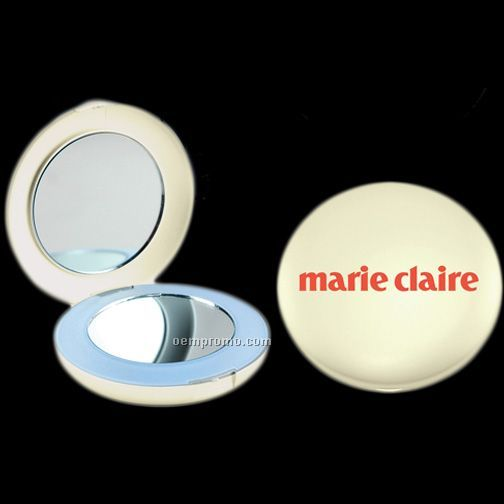 White Lighted Compact Mirror