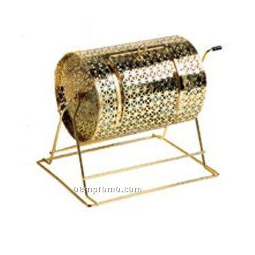 Blank Small Brass Raffle Drum