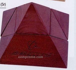 Rosewood Brown Executive Pyramid Puzzle