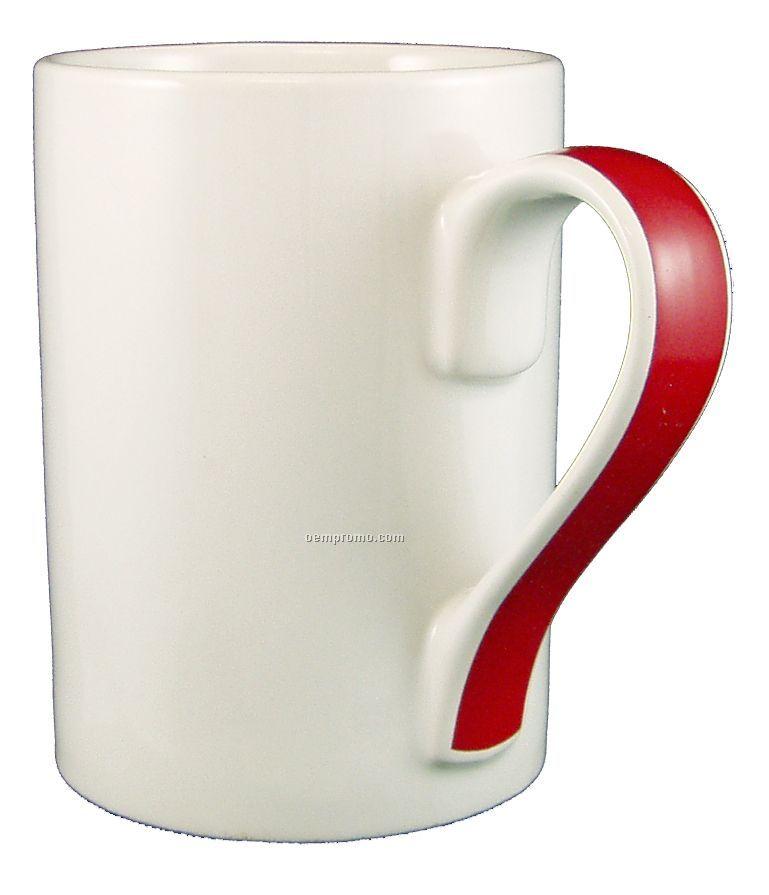 13 Oz Orlando Ribbon Handle Ceramic Coffee Mug