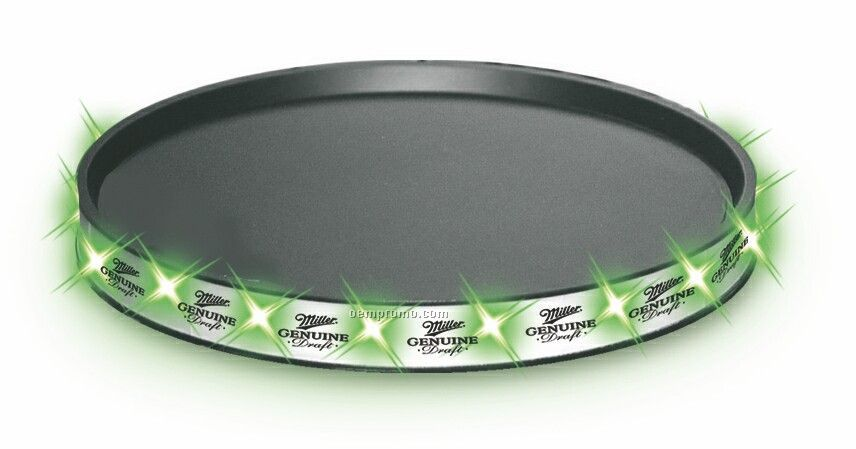 LED Serving Tray With Green Leds