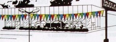 100' Multi-color Poly Pennant Streamers