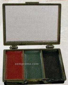 Camouflage Face Paint Compact With Mirror