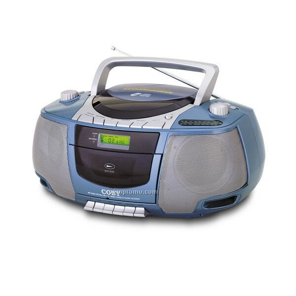 Coby Portable Mp3 CD Cassette Recorder With AM/FM Radio