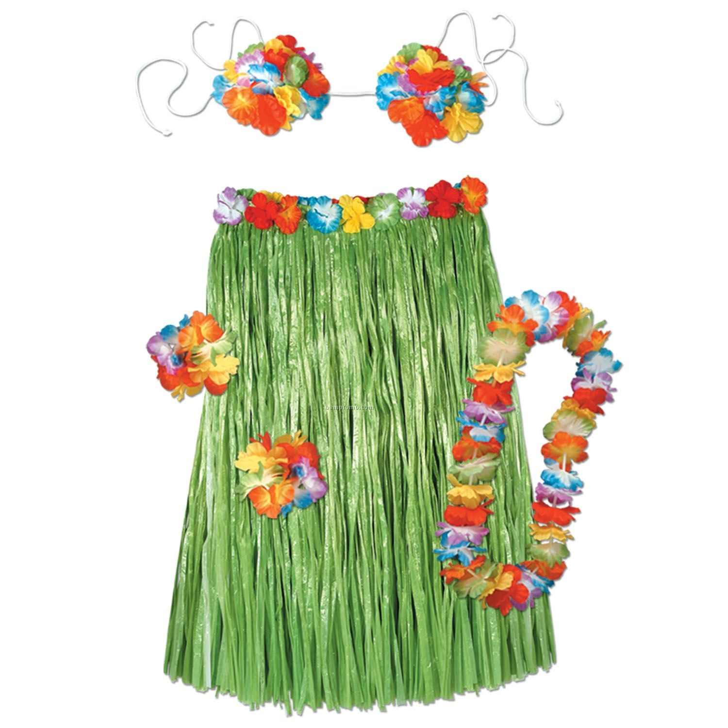 Complete Child Hula Outfit