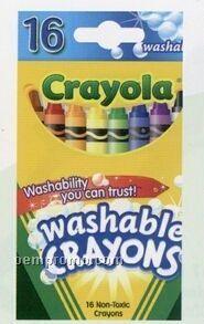 Crayola 16 Washable Crayon Pack
