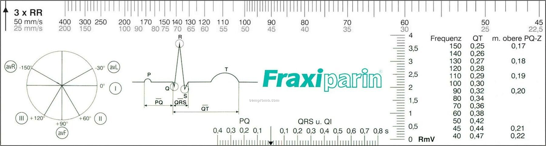 Ecg Ruler 8`` - Transparent