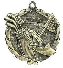 "Medal, ""Golf"" - 1-3/4"" Wreath Edging"
