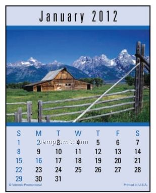Scenic Press-n-stick Calendar (After 08/01/2011)