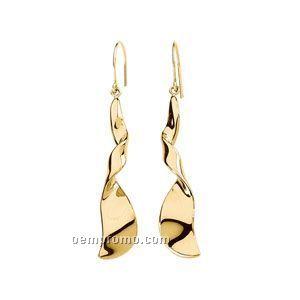 14ky Electroform Dangle Earring