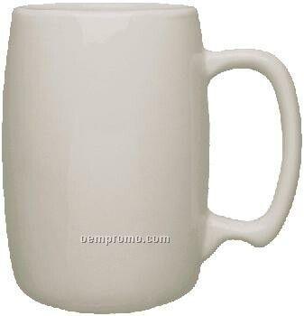 16 Oz. White Ceramic Barrel Mug
