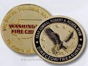 """Die Struck Brass Coin 2"""" 2-1/2mm Thick"""