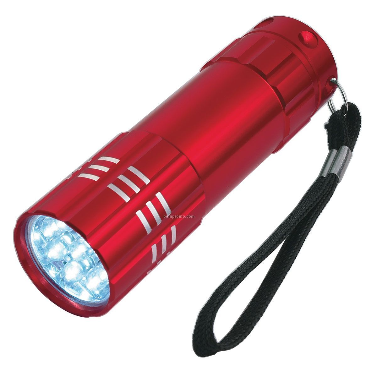 Light Up Flashlight W/ 9 Super Bright Leds - Red
