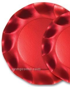 Satin Red Plates