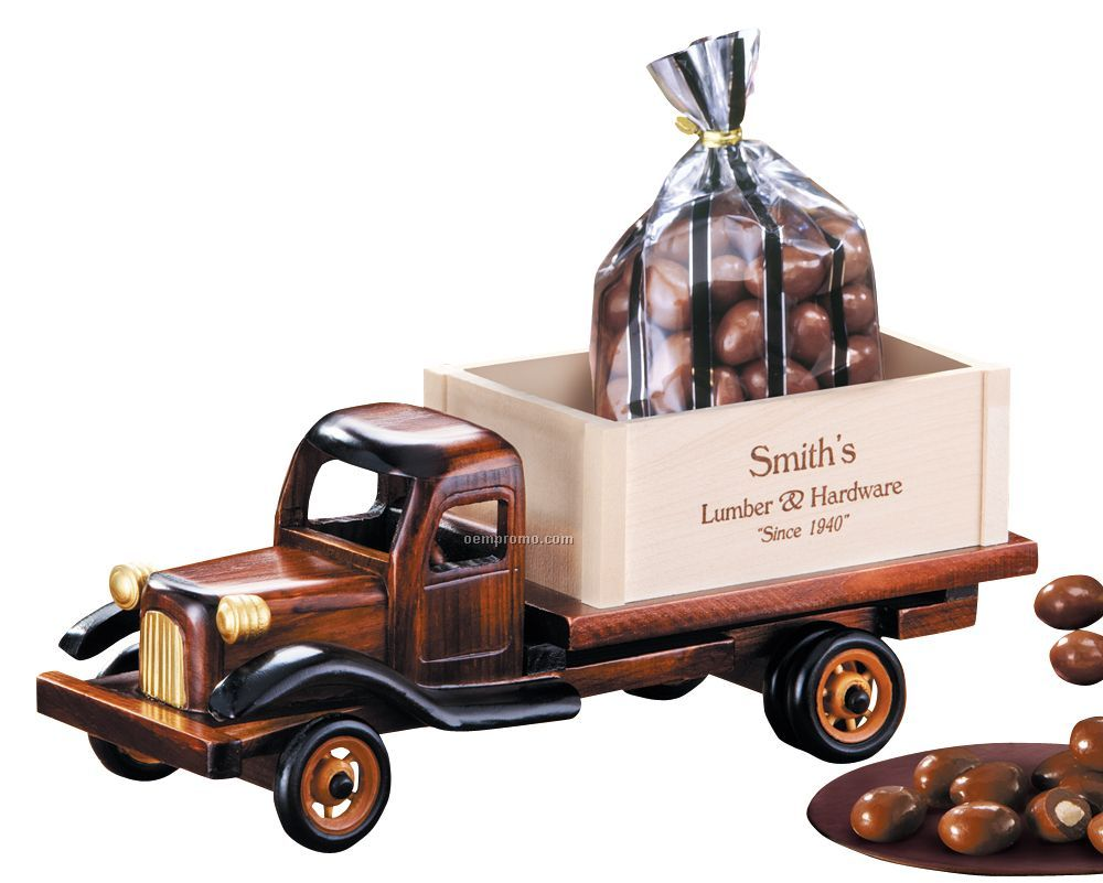 1950's Flat Bed Truck W/ Milk Chocolate Almonds