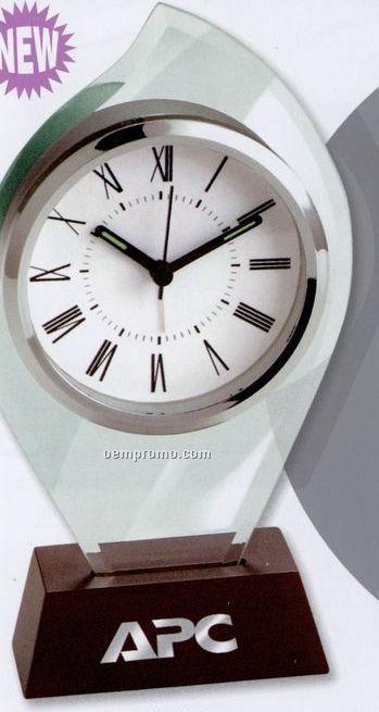 Flame Shaped Glass Alarm Clock