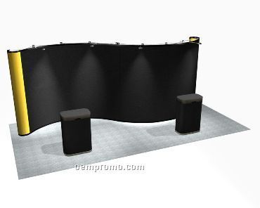 Premium Pop-up Serpentine Display (20')