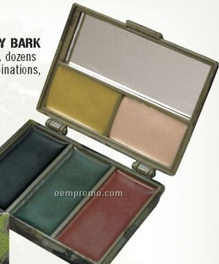 Woodland Camouflage/ Gray Bark Face Paint With Compact Mirror