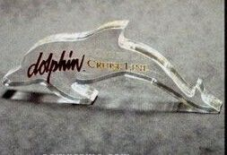 Acrylic Paperweight Up To 20 Square Inches / Dolphin