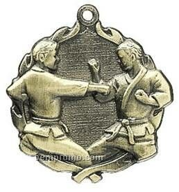"Medal, ""Karate"" - 1-3/4"" Wreath Edging"