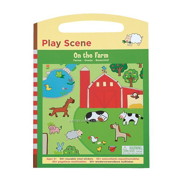On The Farm Sticker Set Play Scene