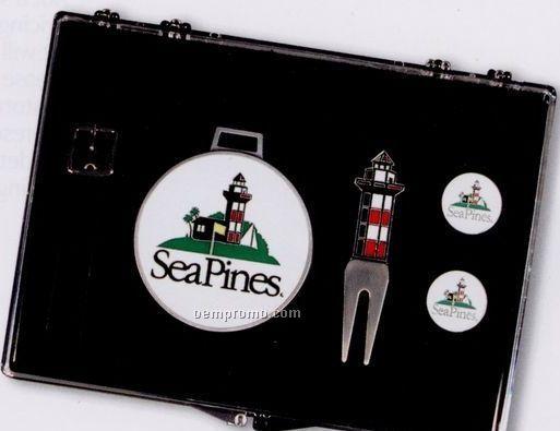 The Pines Kit (Bag Tag/ Divot Tool/ 2 Ball Markers)