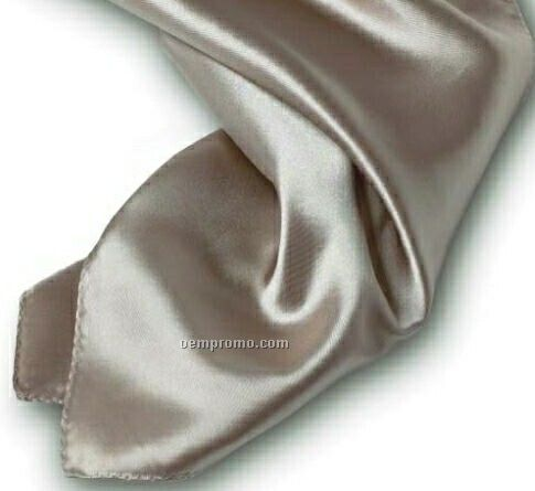 """Wolfmark Solid Series Champagne Beige Polyester Satin Scarf (30""""X30"""")"""