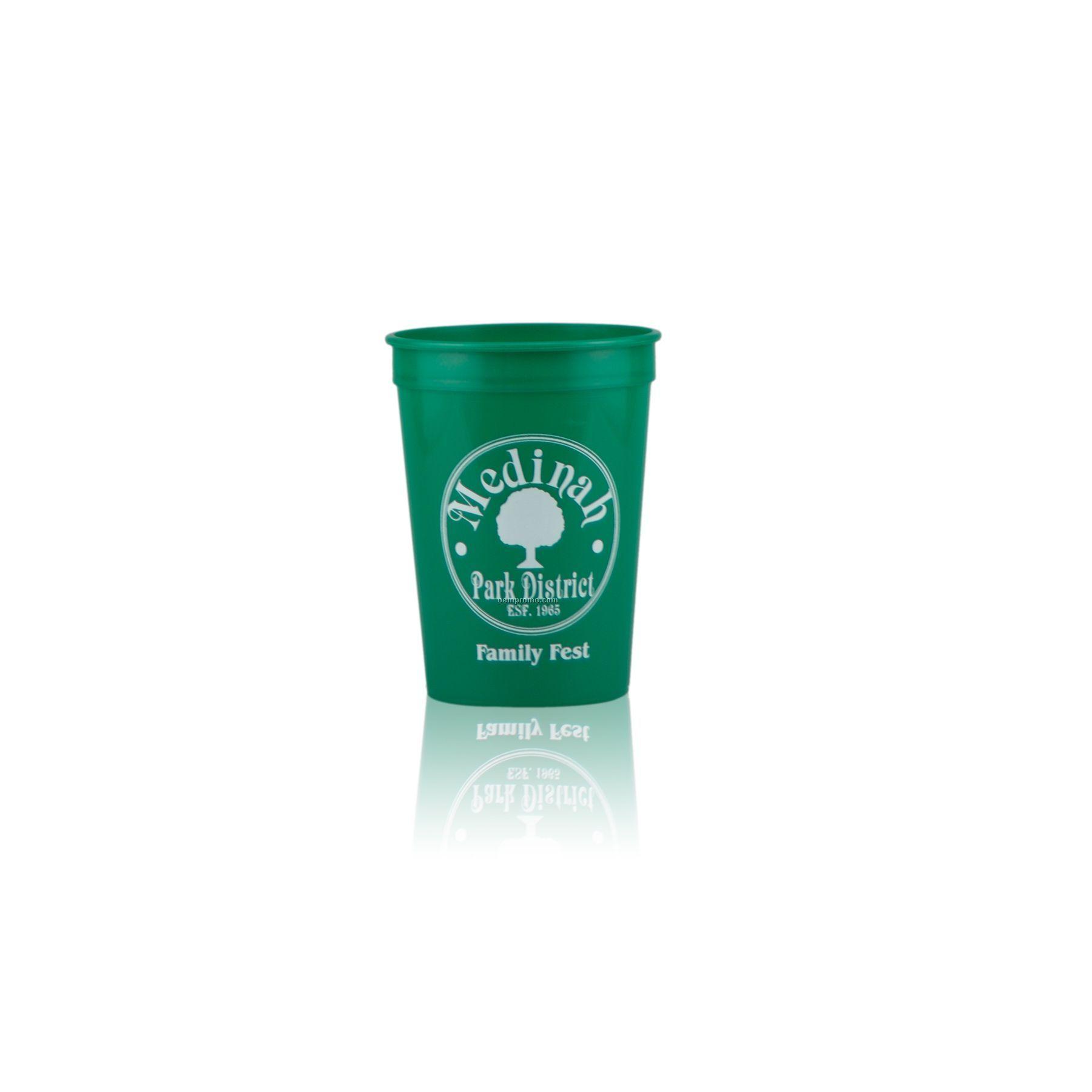 12 Oz. Stadium Cup (Green)