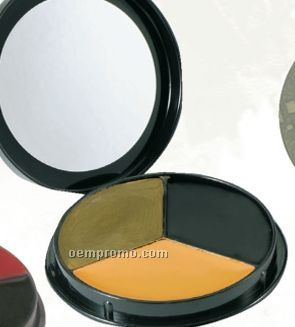 Gi Woodland Camouflage 3-color Face Paint Compact With Mirror