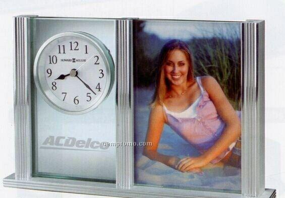Howard Miller Charlene Silver Finish Tabletop Clock (Blank)