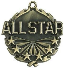"Medal, ""All-star"" - 1-3/4"" Wreath Edging"