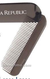 Translucent Smoke Gray Folding Hair Comb (Printed)
