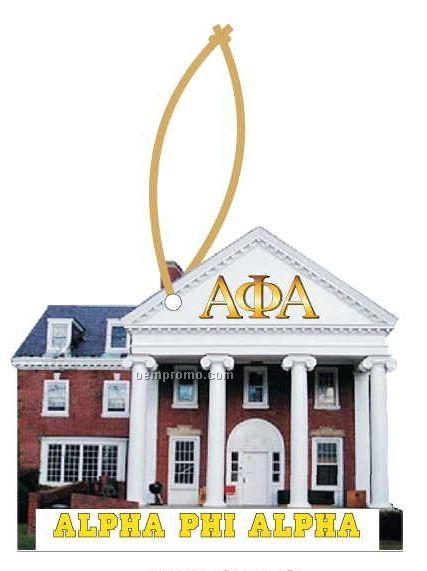 Alpha Phi Alpha Fraternity House Ornament W Mirror Back