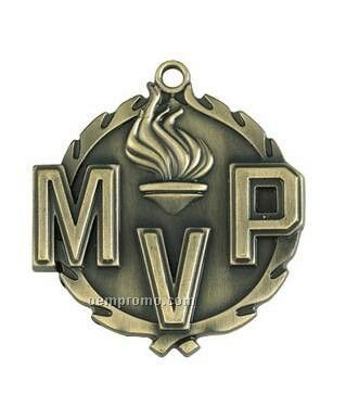 "Medal, ""Mvp"" ""Most Valuable Player"" - 1-3/4"" Wreath Edging"