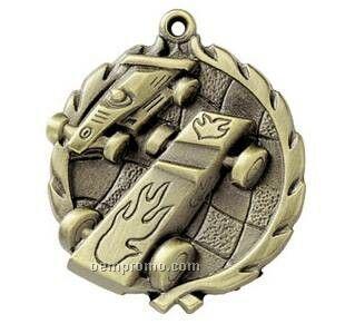 "Medal, ""Pinewood Derby"" - 1-3/4"" Wreath Edging"