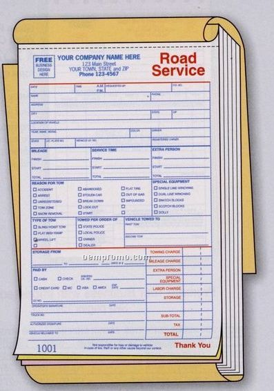 Road Service/ Towing Book (2 Part)