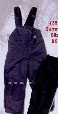 Black Shelled Snowgear Junior Summit Bib Overalls (6-7)