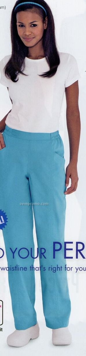 Classic Fit Flat Front 60/40 Cotton/ Poly Scrub Pants