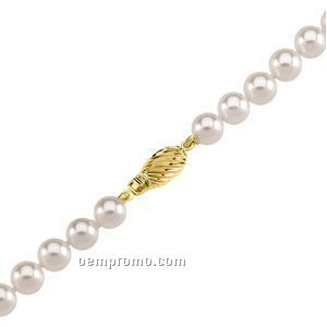 """Ladies' 6 To 6-1/2mm Cultured Pearl Strand Bracelet W/ 14ky Clasp 7"""""""